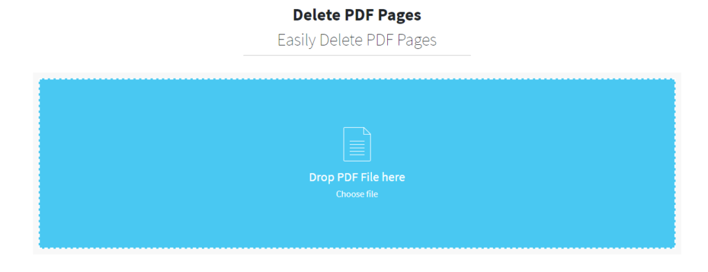 Delete pages